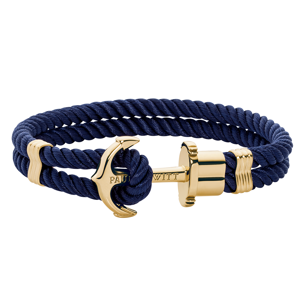 Anchor navy blue gold