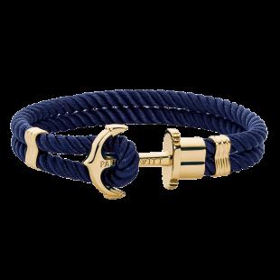 Anchor navy blue gold