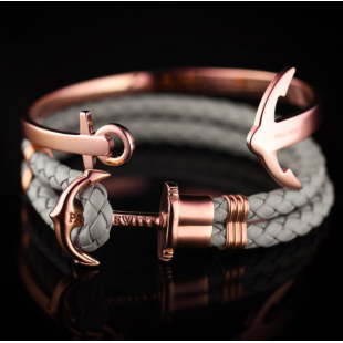 Anchor leather grey rose gold