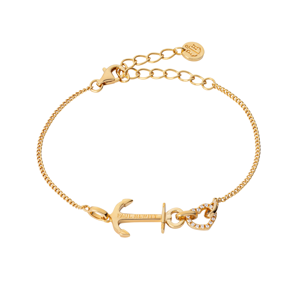 Bracelet Anchor Heart Gold