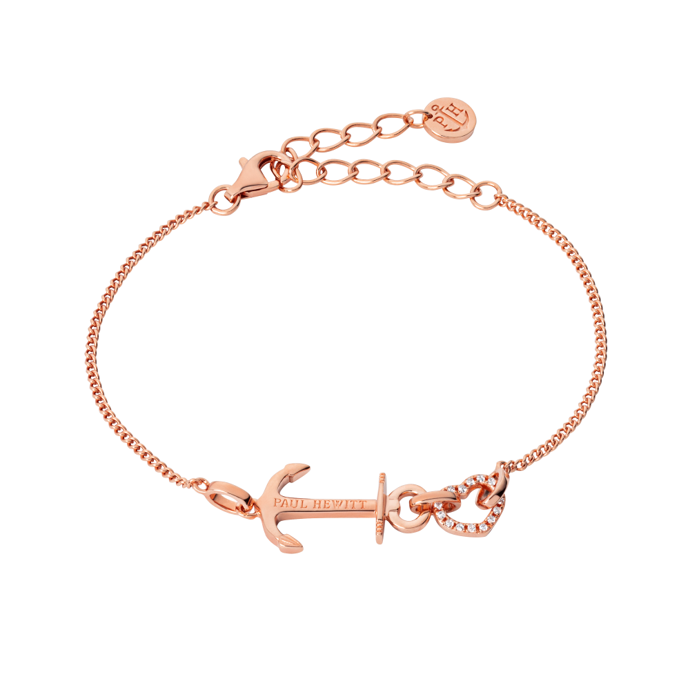 Bracelet Anchor Heart Rosegold
