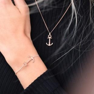 Necklace Anchor Spirit Rosegold