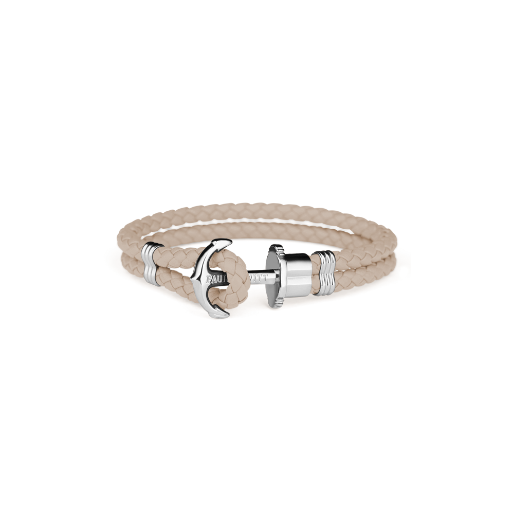 Anchor leather hazelnut silver