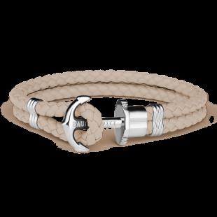 Anchor leather hazelnut silver