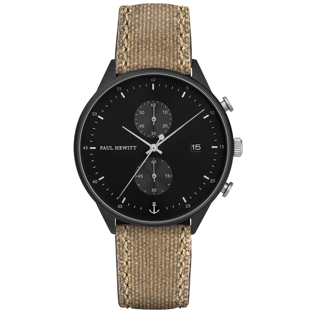 Black Sunray IP Black / Stainless Steel Canvas Desert