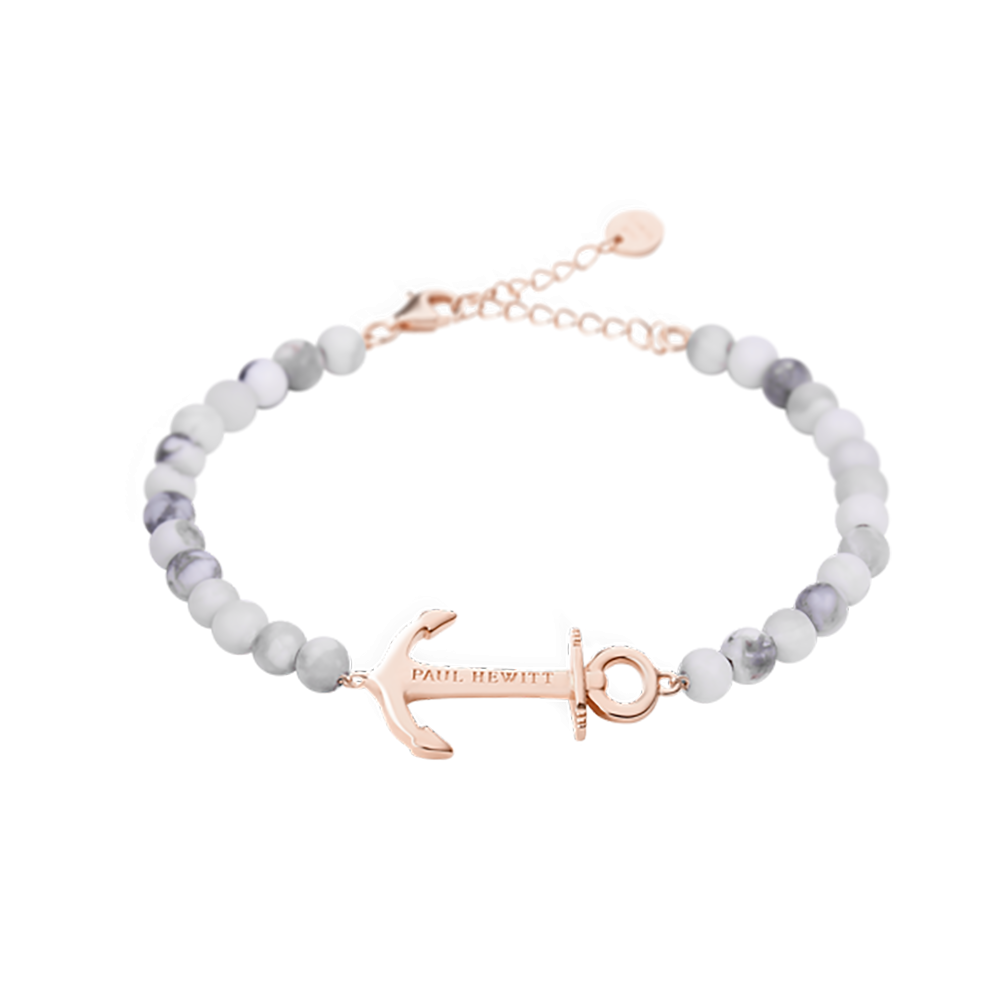 Bracelet Anchor Spirit Marble Rose Gold