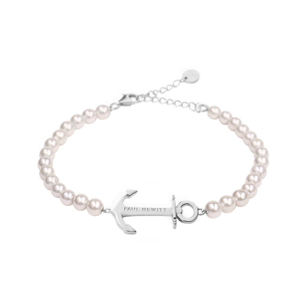 Bracelet Anchor Spirit Pearl Stainless Steel