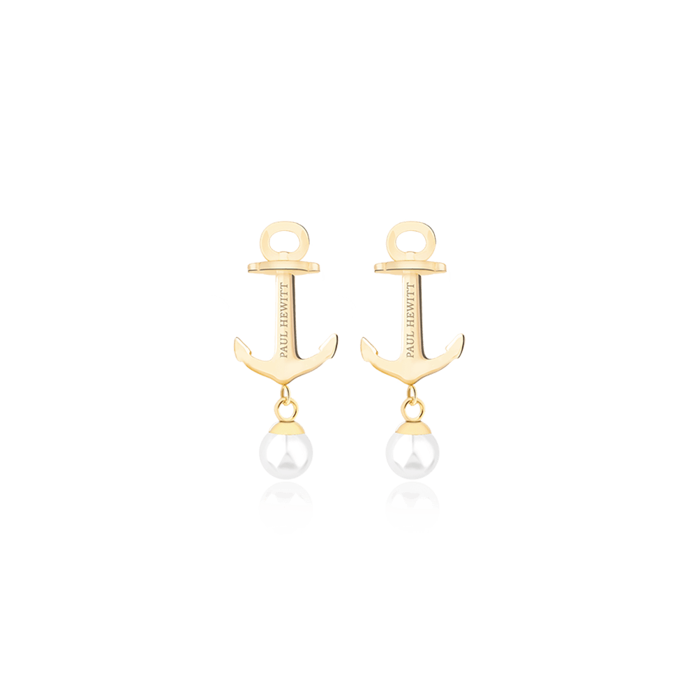 Earring Anchor Pearl Gold Pearl