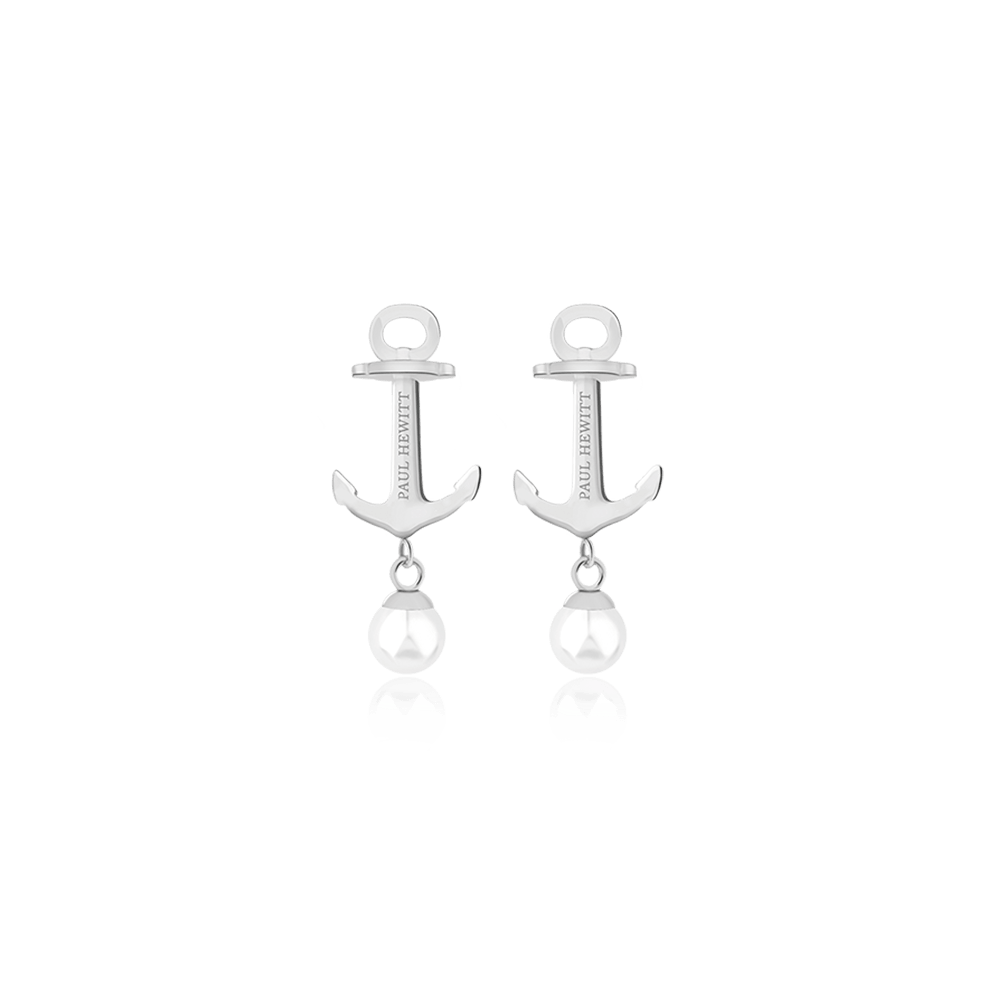 Earring Anchor Pearl Stainless Steel Pearl