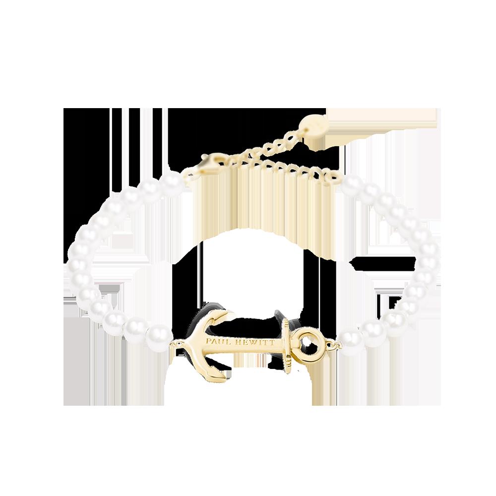 Bracelet Anchor Spirit Pearl Gold