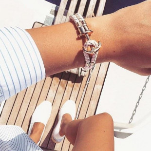 Anchor leather light pink rose gold