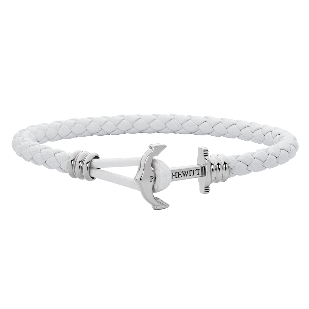 Anchor Lite Leather White Silver