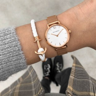 Anchor Lite Leather White Rosegold