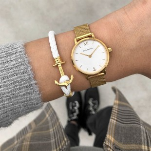 Anchor Lite Leather White Gold