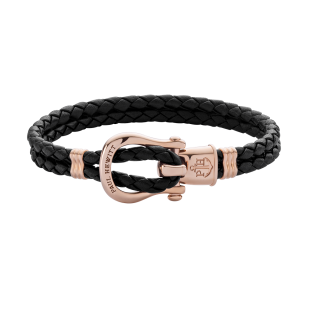 Phinity Rose Gold Leather Black