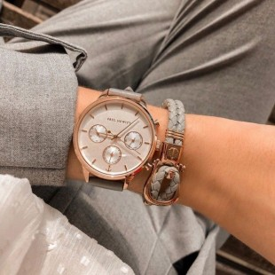 Phinity Rose Gold Leather Grey