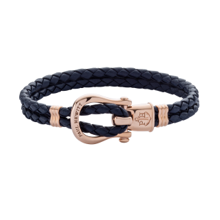Phinity Rose Gold Leather Navy Blue
