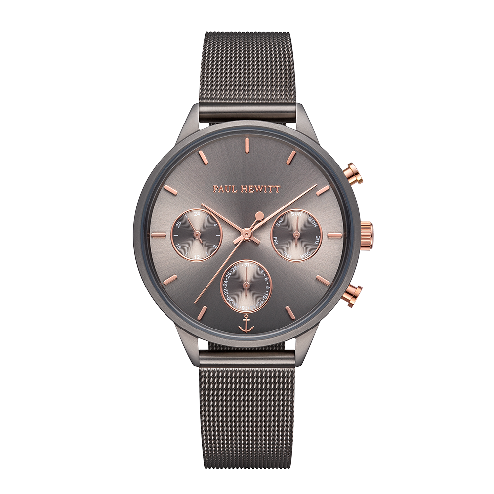 Grey Metalic Mesh Strap