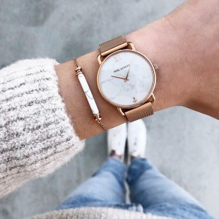 Starboard Rose Gold White Marble