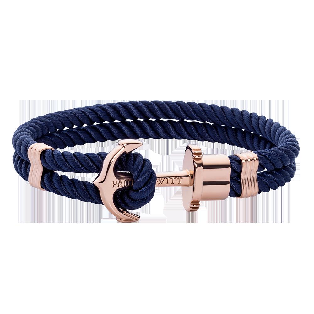 Anchor Navy Blue Rosegold