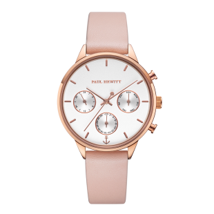 White Sand Rose Gold Leather Nude