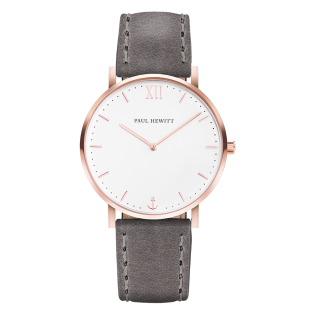 Sailor line rose gold white grey leather