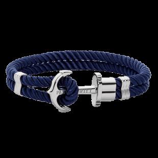 Anchor navy blue silver